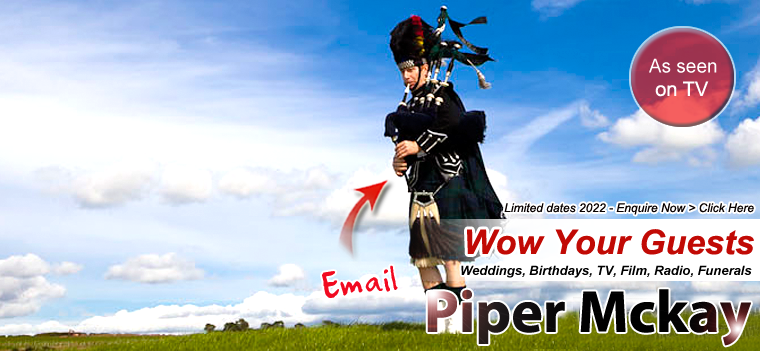 Scottish Bagpiper Hire with Piper Mckay - As Featured on CNN, BBC, itv, SKY and Film