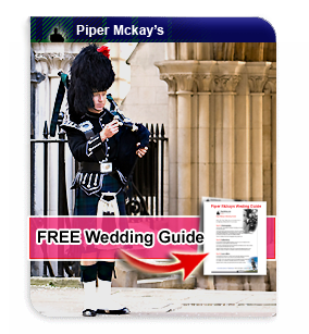 Wedding Bagpiper Hire with Piper Mckay